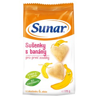 Sunárek Banana Biscuits for First Teeth 175g