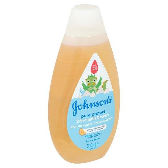 Johnson's Pure Protect Koupel a mycí gel 2v1 500ml