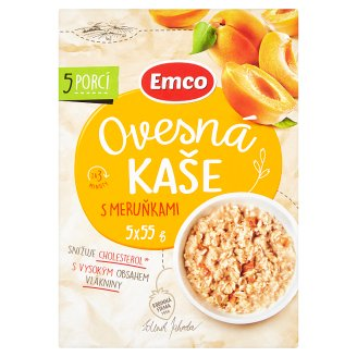 Emco Ovesná kaše s meruňkami 5 x 55g