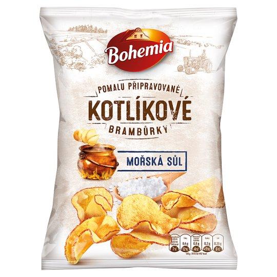 Bohemia Kotlíkové brambůrky mořská sůl 120g