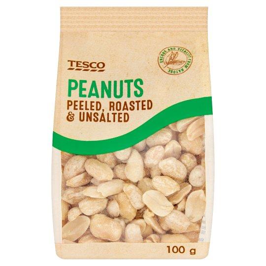 Tesco Peanuts Peeled, Roasted & Unsalted 100g
