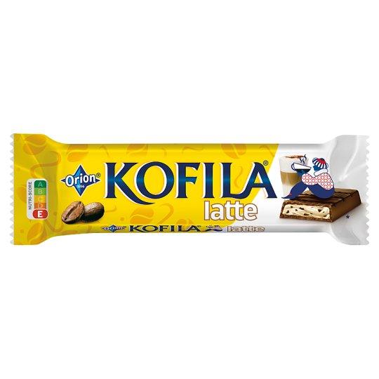 ORION KOFILA Latté čokoládová tyčinka s mléčnou náplní s kousky rozpustné kávy 34g