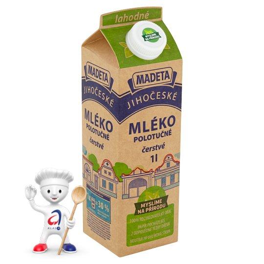 Madeta Jihočeské mléko lahodné polotučné 1l