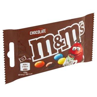 M&M's Čokoládové dražé v křupavé cukrové skořápce 45g