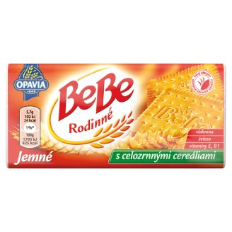 Opavia BeBe Rodinné Fine Biscuits with Butter & Vanilla Flavour with Whole Grain Cereals 130g