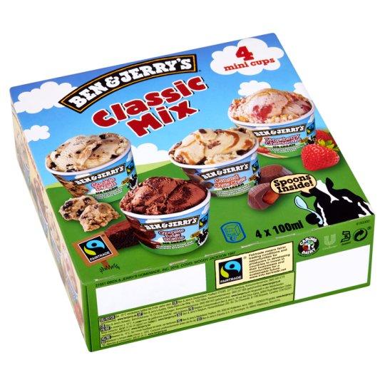 Ben & Jerry's Classic Mix Multipack Ice Cream 4 x 100ml