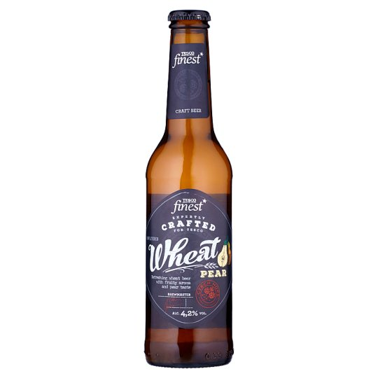 Tesco Finest Beer Lager Light Wheat Unfiltered Pear 330ml