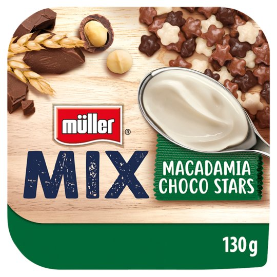 Müller Mix Choco Stars Yoghurt with Macadamia Nuts Flavour 130g