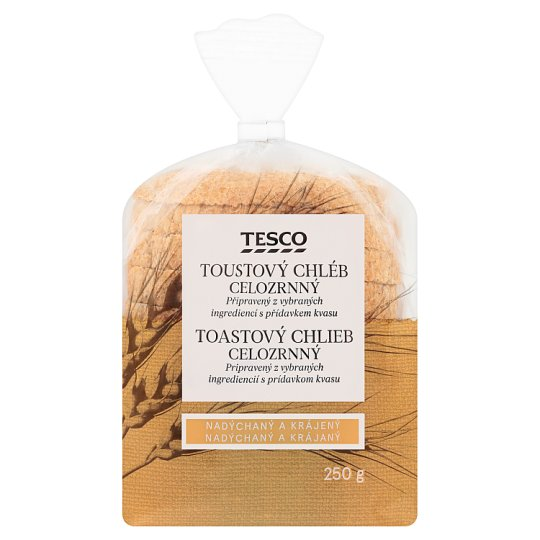 Tesco Toustový chléb celozrnný 250g