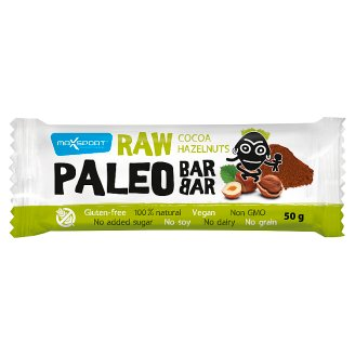 MaxSport Paleo Raw Bar with Hazelnuts and Cocoa 50g