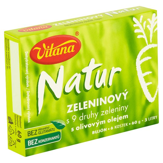 Vitana Natur Zeleninový bujón s 9 druhy zeleniny s olivovým olejem 60g