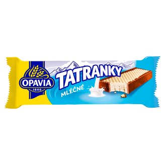 Opavia Tatranky Biscuit Perimeter Dipped in Dark Glaze with Milk Filling 47g