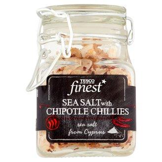 Tesco Finest Jedlá sůl mořská se sušenými uzenými chilli papričkami 43g