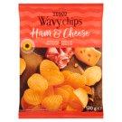 Tesco Wavy Chips Ham & Chesse 130g