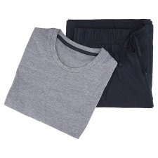 image 2 of F&F Men's Basic Dark Blue Nightwear with Short Sleeves 1 pc in Pack, XL, Navy