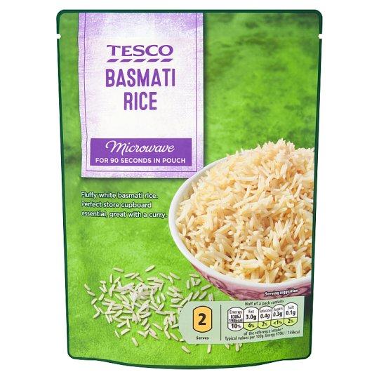 Tesco Předvařená rýžže dlouhozrnná loupaná Basmati 250g