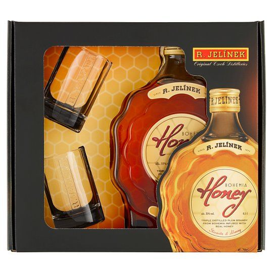 R. Jelínek Bohemia Honey 0.5L + 2 Glasses