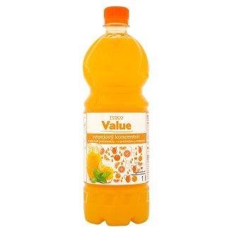 Tesco Value Nápojový koncentrát s příchutí pomeranče 1l