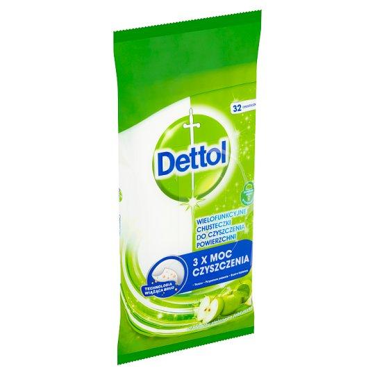 Dettol Power & Fresh antibakteriální víceúčelové ubrousky zelené jablko 32 ks
