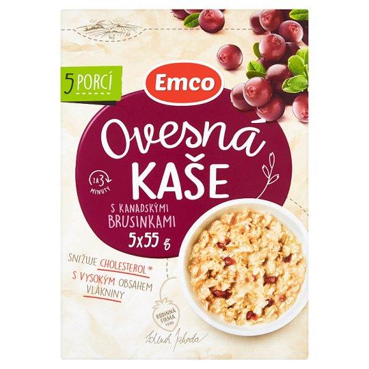 Emco Porridge with Canadian Cranberries 5 x 55g