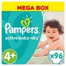 Pampers Active Baby-Dry Dětské Plenky Velikost 4+ (Maxi+), 96 ks