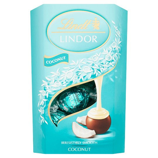 Lindt Lindor Milk Chocolate with Smooth Coconut Filling 200g