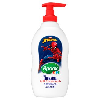 Radox Spiderman Kids Feel Amazing Bath & Body Wash 400ml