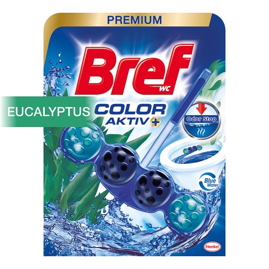 Bref Color Aktiv Eucalyptus Solid Toilet Block 50g