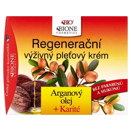 Bione Cosmetics Bio Arganový olej + karité regenerační výživný pleťový krém 51ml