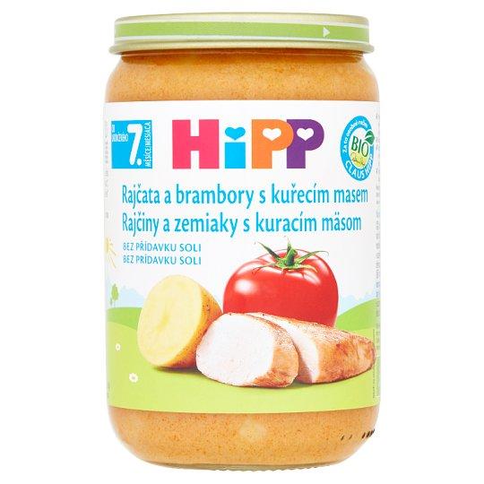 HiPP Bio rajčata a brambory s kuřecím masem 220g
