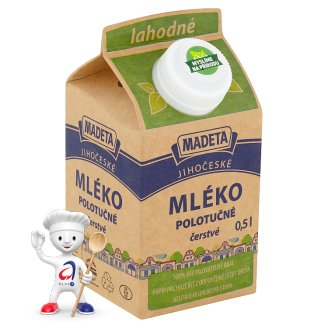 Madeta South Bohemia Delicious Half-Fat Milk 0.5L