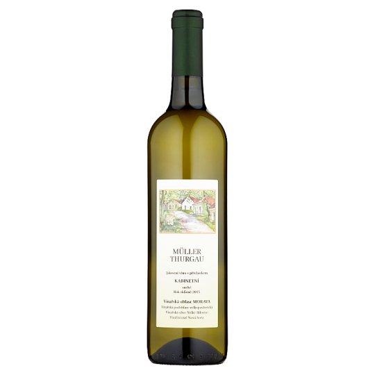 Malý vinař Müller Thurgau jakostní víno s přívlastkem kabinetní suché 0,75l