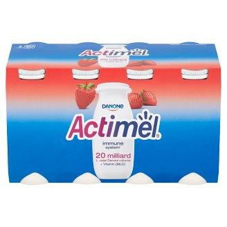 Danone Actimel Jogurtové mléko jahodové 8 x 100g