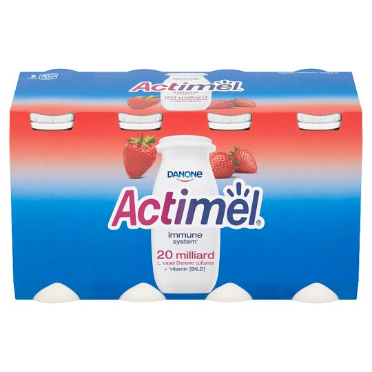 Danone Actimel Strawberry Yoghurt Milk 8 x 100g
