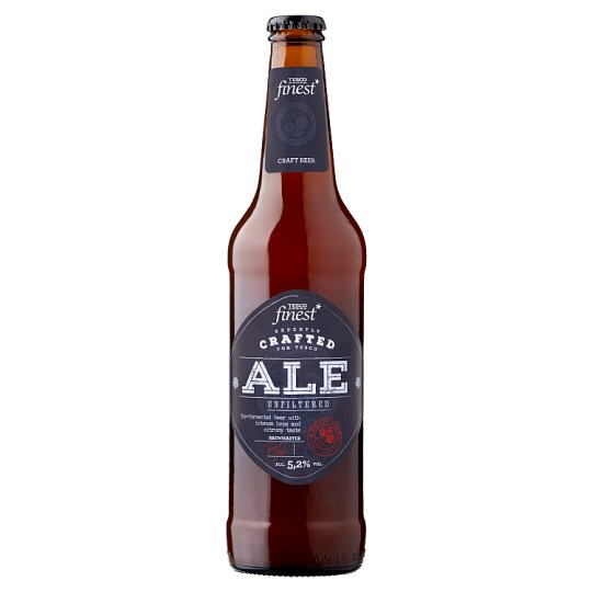 Tesco Finest ALE Beer Special Light Unfiltered 500ml