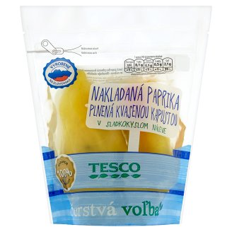 Tesco Pickled Peppers Stuffed with Sauerkraut in Sweet Sour Brine 500g