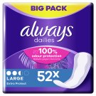 Always Dailies Extra Protect Large 52 Count