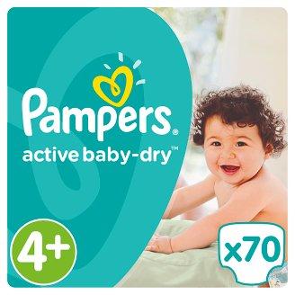 Pampers Active Baby-Dry Dětské Plenky Velikost 4+ (Maxi+), 70 ks