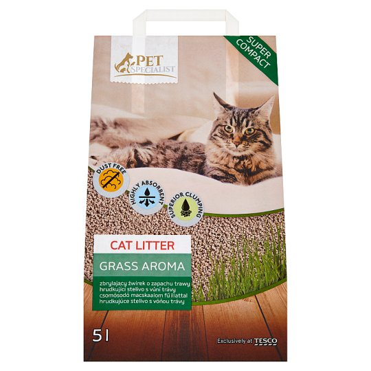 Tesco Pet Specialist Cat Litter Grass Aroma 5L