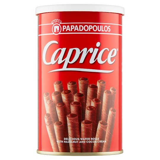 Papadopoulos Caprice Viennese Wafers with Hazelnut Spread and Cocoa Cream 115g