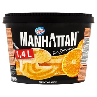 Manhattan Ice Dream Mražený krém se sýrem cottage a sorbet pomerančový 1400ml