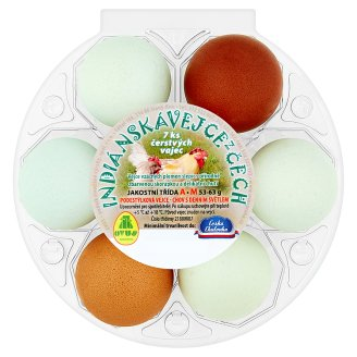 Ovus Indian Eggs from Bohemia 7 psc