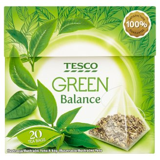 Tesco Balance zelený čaj 20 x 1,5g