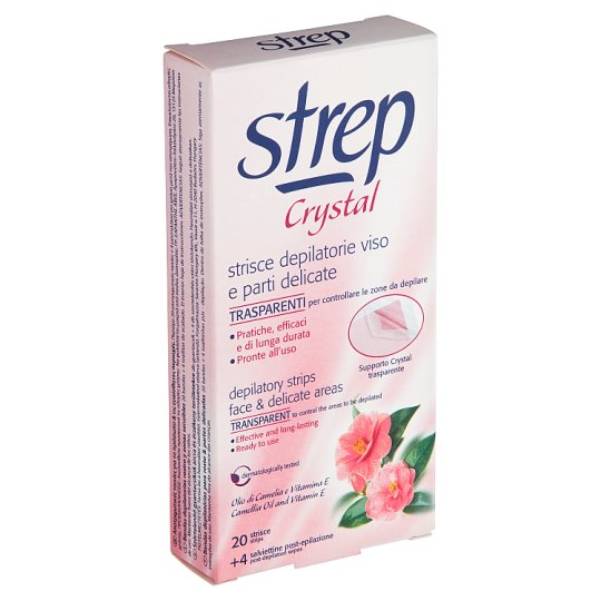 Strep Crystal Depilatory Strips for Face and Delicate Areas 20 pcs
