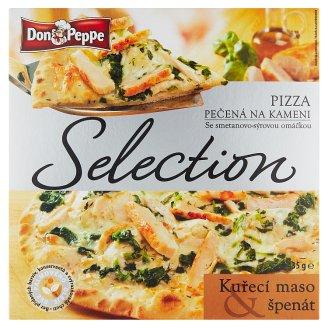 Don Peppe Selection Pizza kuřecí maso & špenát pečená na kameni 435g