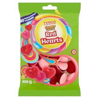 Tesco Candy Carnival Red Hearts želé s ovocnými příchutěmi 100g