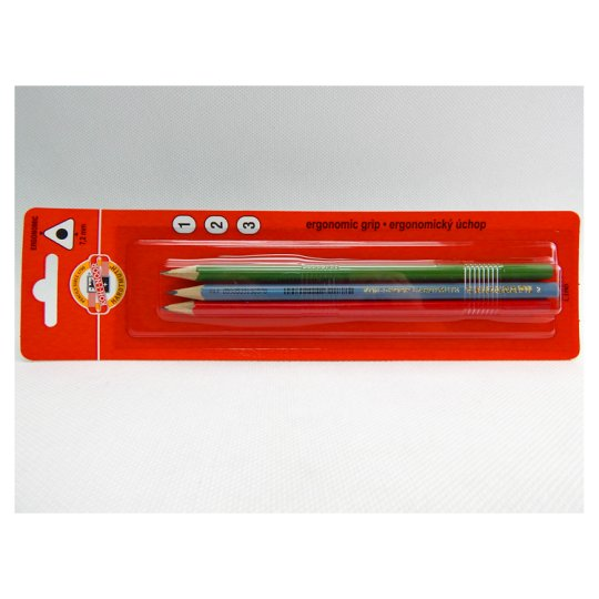 KOH-I-NOOR Triangular Pencil Hardness 1 2 3