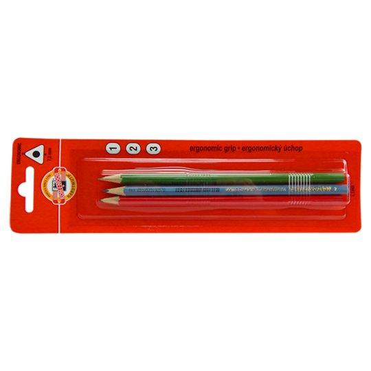 KOH-I-NOOR Trojhranné tužky tvrdost 1 2 3