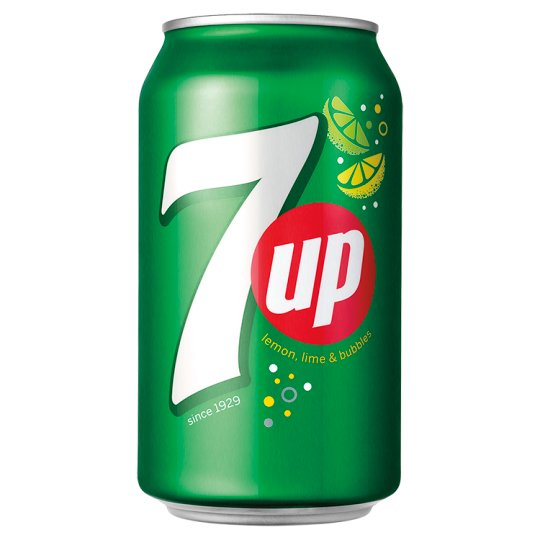 7UP Soft Drink with Lemon-Lime Flavor 330ml