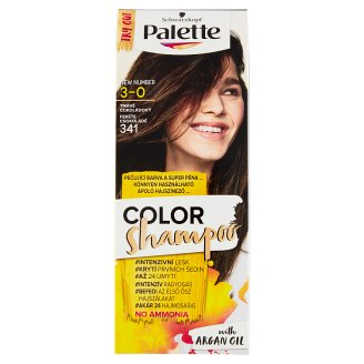image 1 of Schwarzkopf Palette Color Shampoo Hair Color Dark Chocolate 341